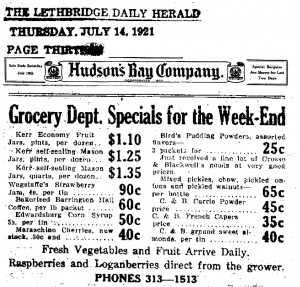 1921 Kerr Mason Jars advertisment