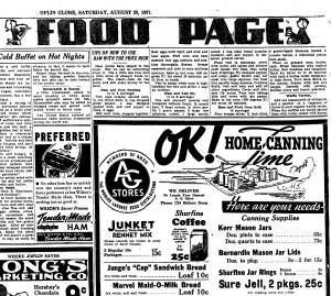 See bottom-right corner of ad. Advertisement in: Joplin Globe. Joplin, Missouri. Saturday, 28 August 1937. Page 6.