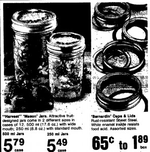 1983 harvest mason jars