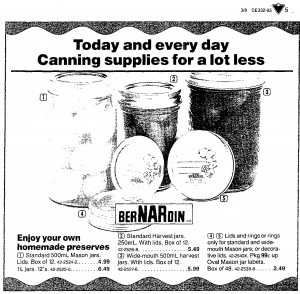 1993 bernardin jars advertisement