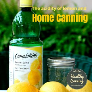 The acidity of lemons and home canning