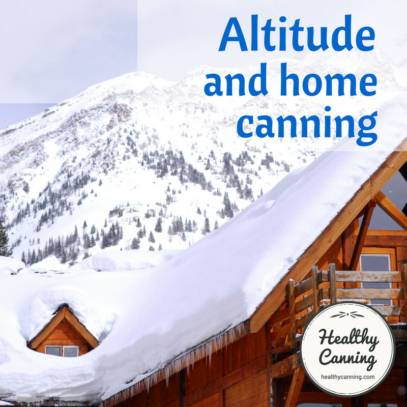 Altitude and home canning