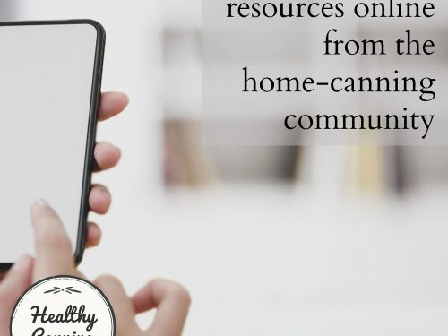 Online resources from the home-canning community