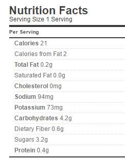 American Piccalilli nutrition regular