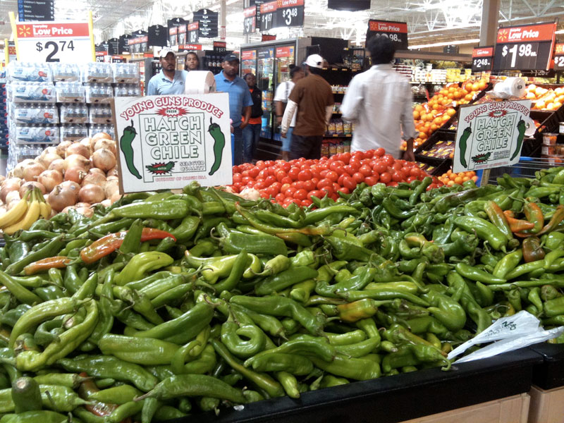 New Mexico (aka Anaheim, aka NuMex) chile peppers
