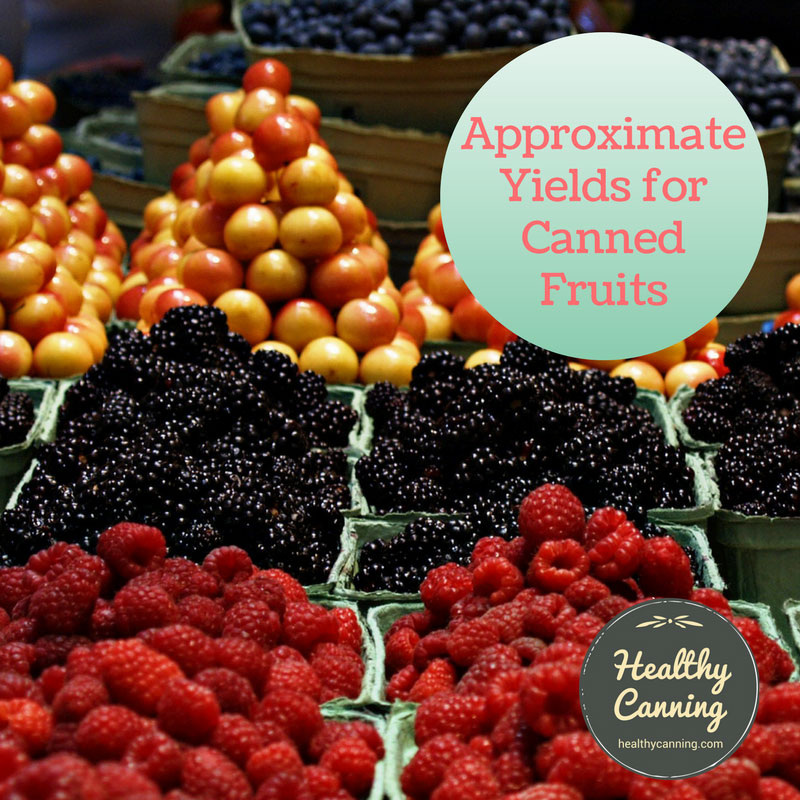 Approximate Yields for Canned Fruits