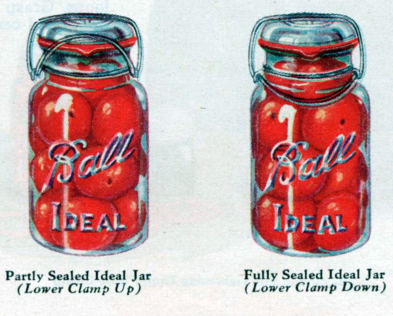 Ball's Ideal Bail Type Jars in operation