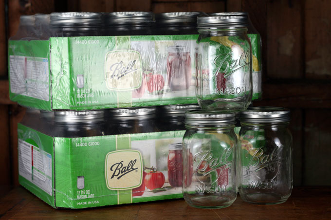 Ball pint canning jars