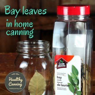 Using bay leaves in home canning