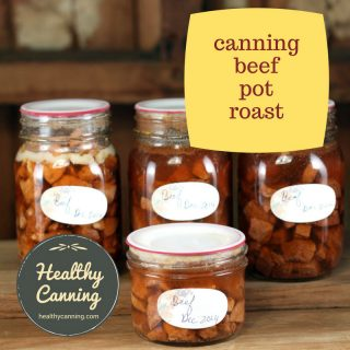 Canning beef pot roast