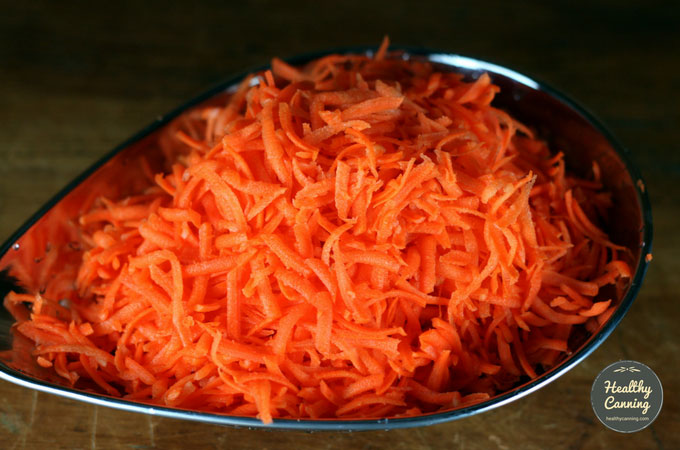 The shredded carrot