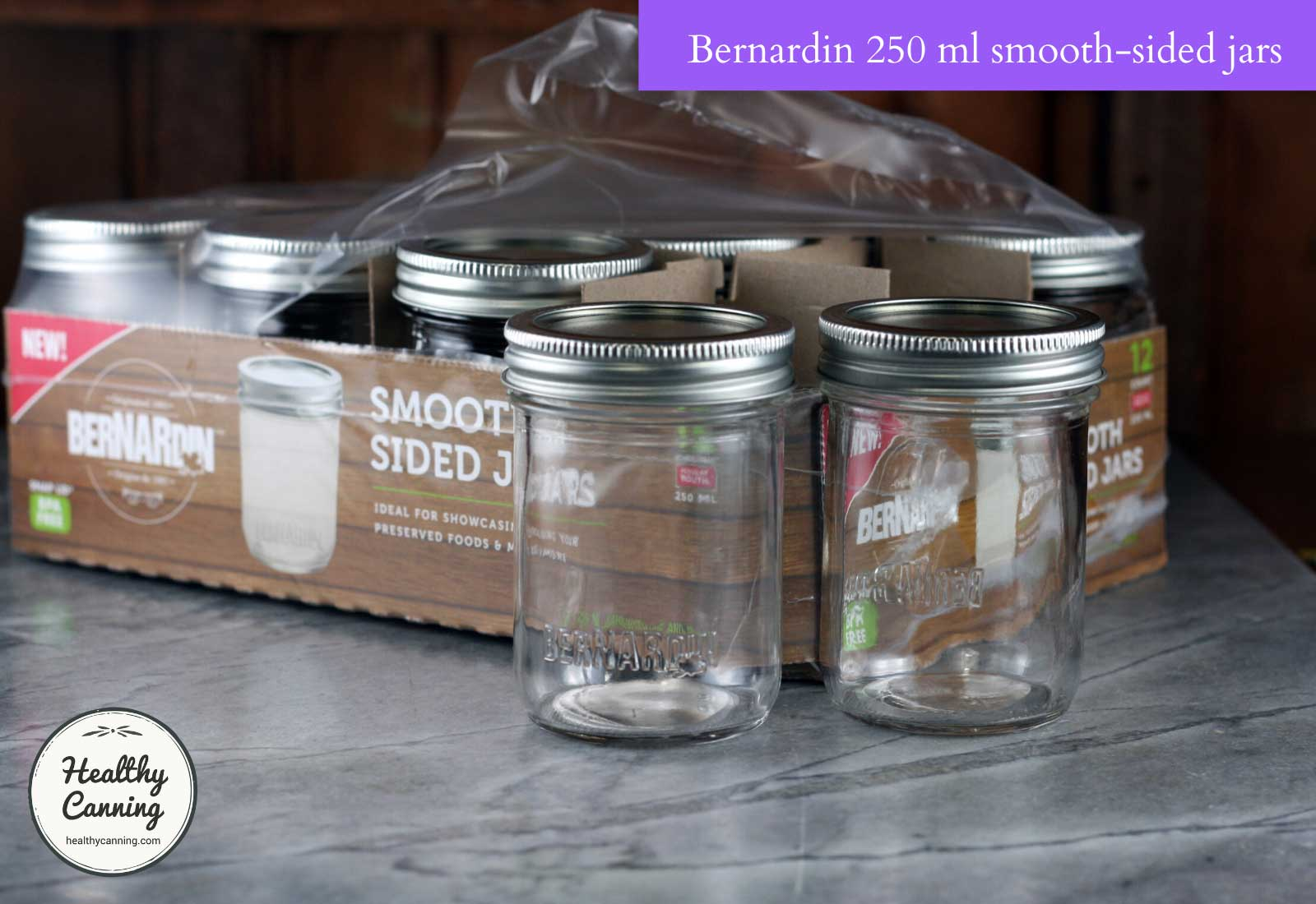 Bernardin 250 ml jars smooth sided