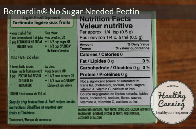 Nutritional information and ingredients. There are added preservatives to help keep your jam safe, plus citric acid to help ensure a safe, low pH.