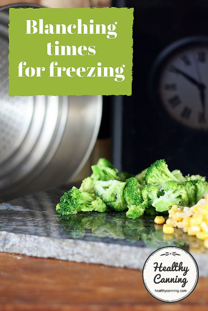 Blanching times for freezing vegetables - Healthy Canning