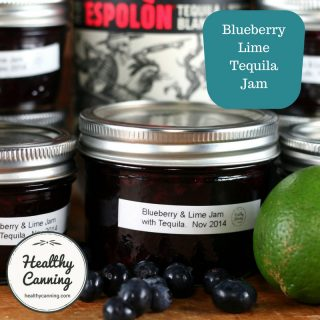 Blueberry Lime Tequila Jam Sugar-Free (Ball / Bernardin)