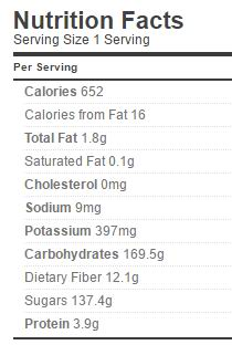 Blueberry Pie Filling Nutrition Regular