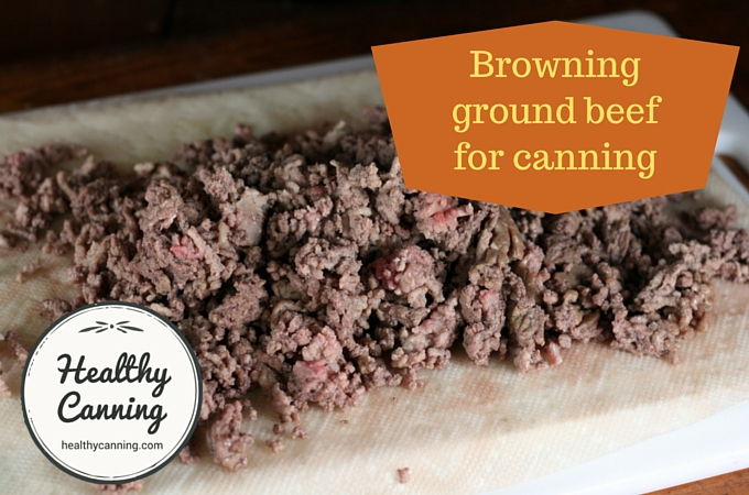 This ground beef is sufficient browned so that it won't clump together in the jar. Browning it any further would in the skillet would just toughen it, and waste cooking fuel as it will get thoroughly cooked during the canning process, anyway.