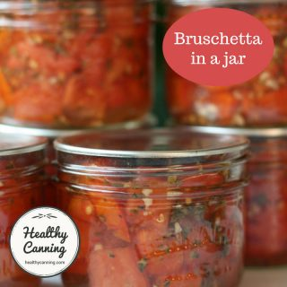 Bruschetta in a jar
