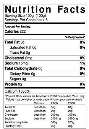 Calcium Chloride Nutrition