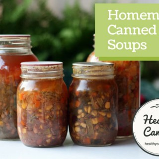 Canning homemade soups