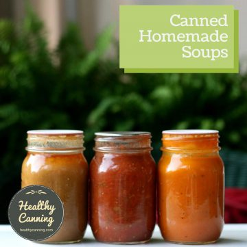 canned homemade soups