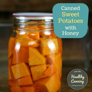 Home canned sweet potatoes with honey