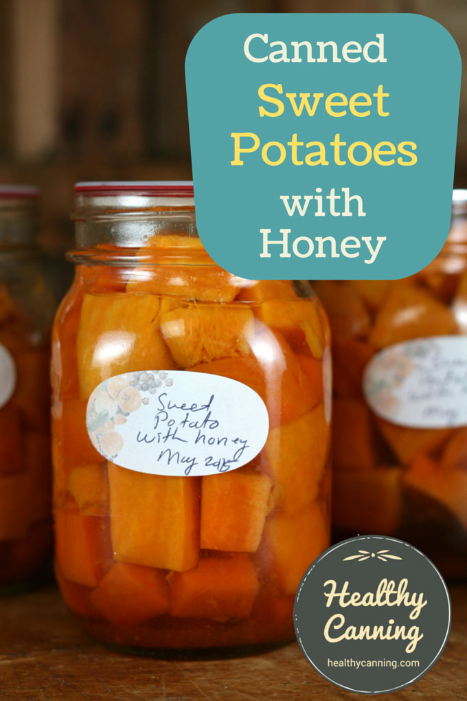 Canned Sweet Potatoes with honey