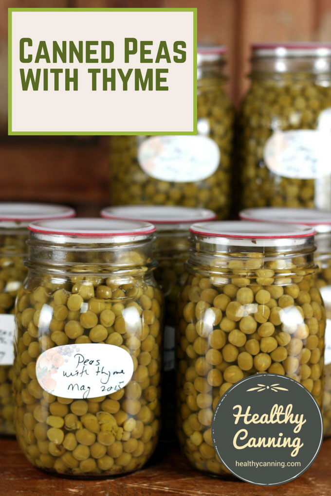 Canned peas with thyme 002