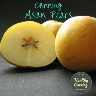 Canning Asian pears