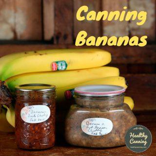 Canning bananas