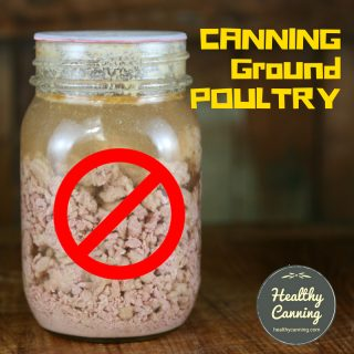 Home canning ground poultry