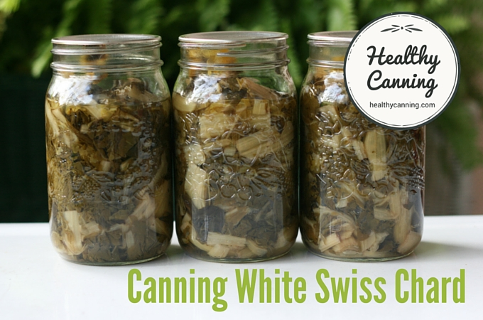 Canned white Swiss Chard