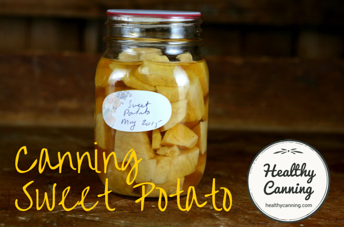 Canning Sweet Potato Camote