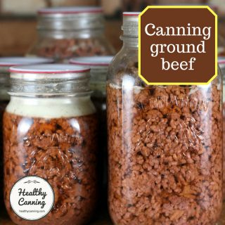 Canning ground beef