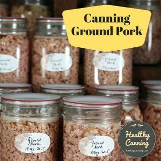 Canning ground pork