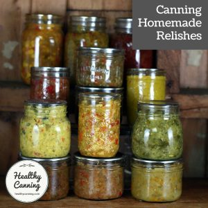 canning homemade relish