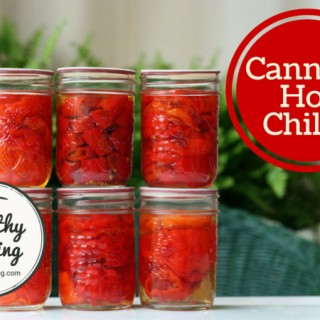 Canning hot chile peppers