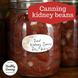 Canning kidney beans