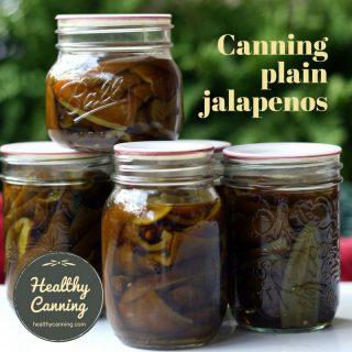 Canning plain jalapenos