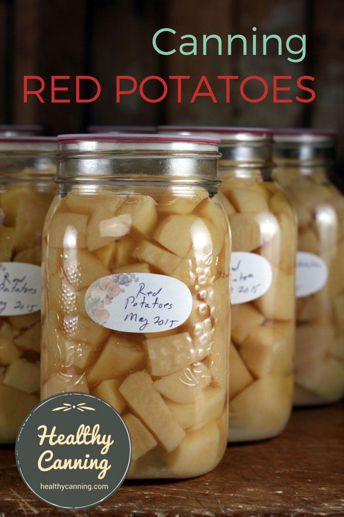 Canning red potatoes 001