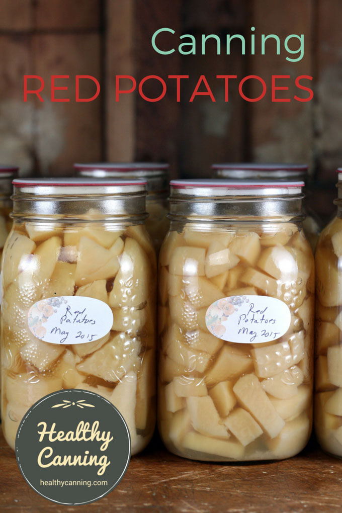 Canning red potatoes 002