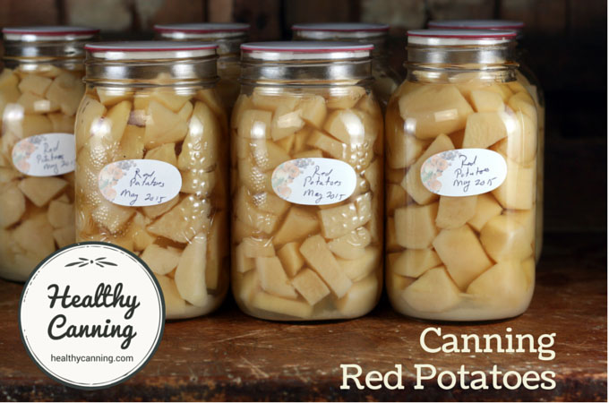 Canning red potatoes 004