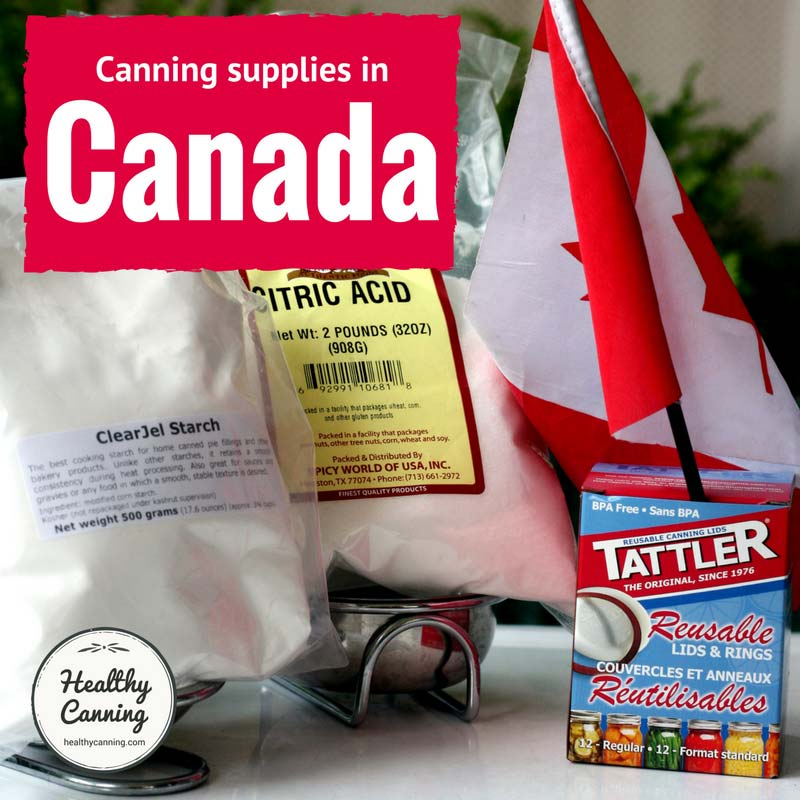 Canning supplies in Canada