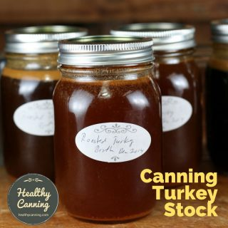 Canning turkey stock