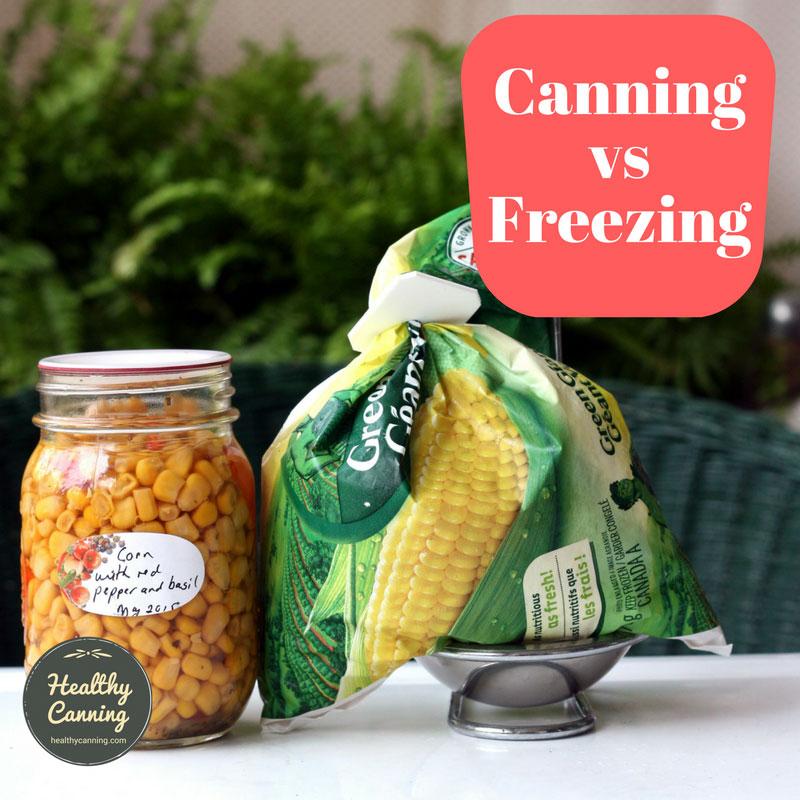 Canning versus freezing