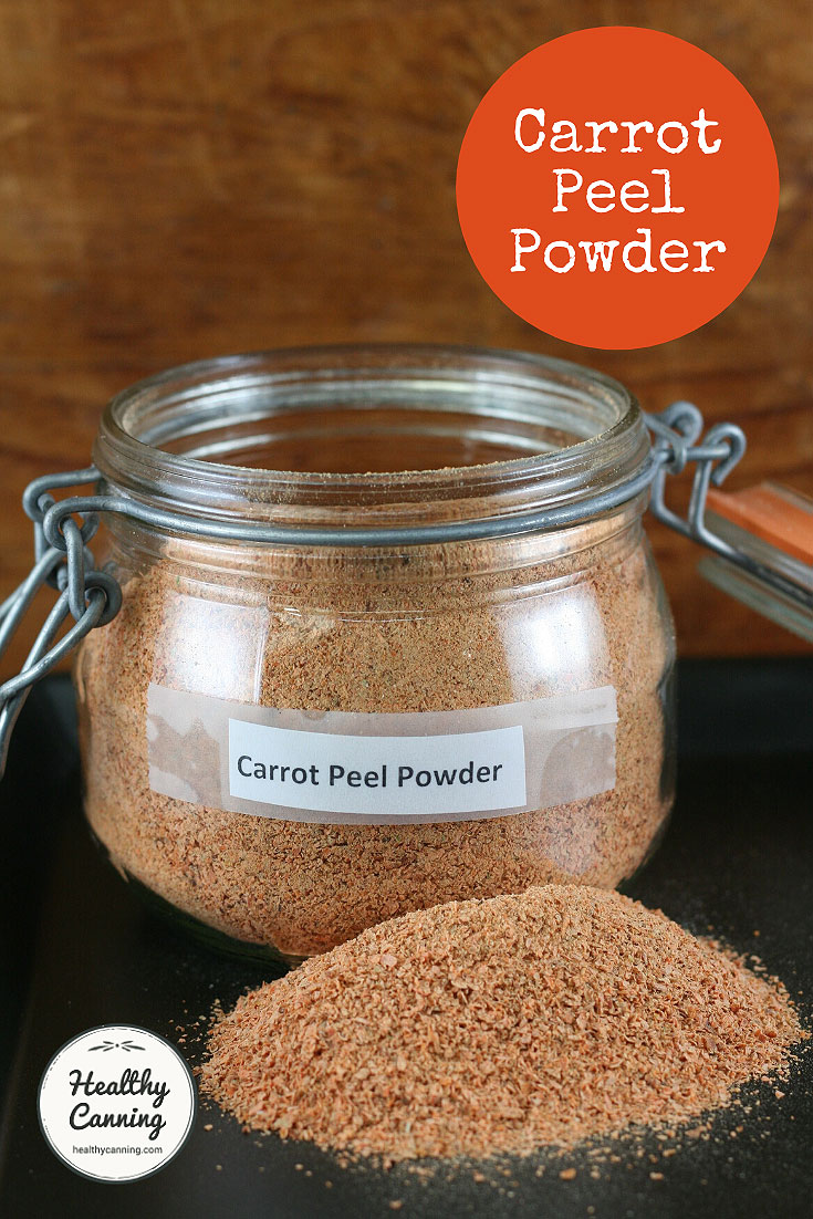 Carrot peel powder