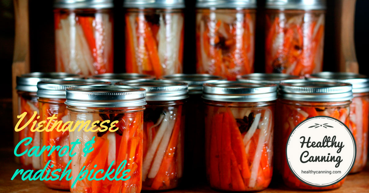 Vietnamese Carrot and Radish Pickle - Healthy Canning