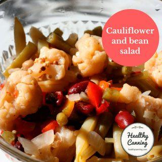 Cauliflower and bean salad