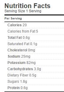 Cauliflower pickle in hot peanut and sesame sauce Nutrition Regular