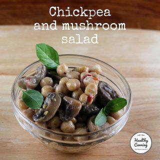Chickpea and mushroom salad